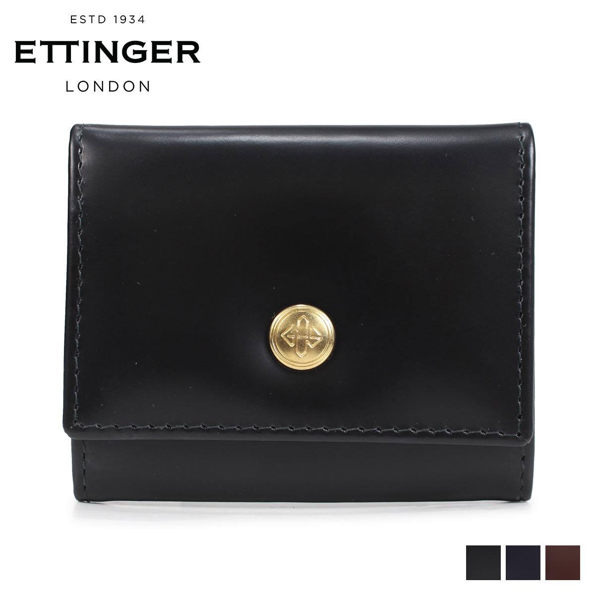 エッティンガー ETTINGER 財布 コインケース 小銭入れ メンズ 本革 BRIDE HIDE COIN PURSE WITH CARD POCKET ブラック ネイビー ブラウン 黒 BH145JR