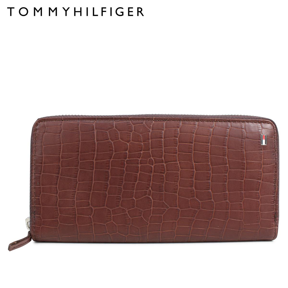 トミーヒルフィガー TOMMY HILFIGER 財布 長財布 ラウンドファスナー メンズ レザー WALLET ダークブラウン 31TL400003-200