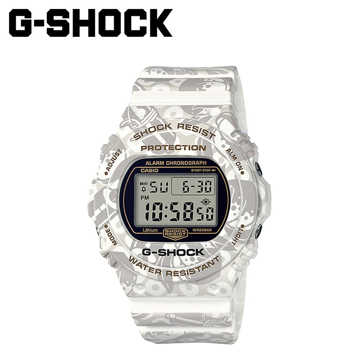 【最大2000円OFFクーポン】 カシオ CASIO G-SHOCK 腕時計 DW-5700SLG-7JR 七福神 寿老人モデル ジーショック Gショック G-ショック メンズ レディース ホワイト