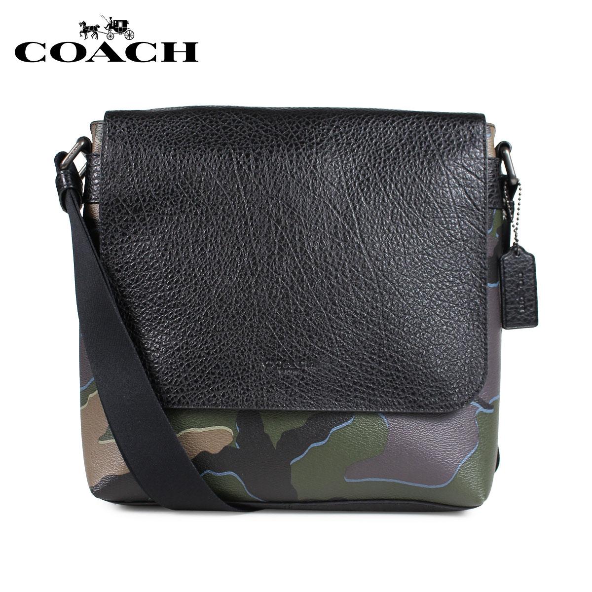 コーチ COACH バッグ ショルダーバッグ メンズ レザー カモ グリーン F31559