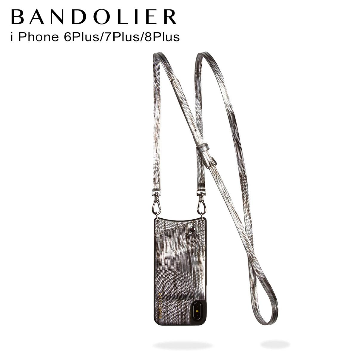 BANDOLIER バンドリヤー iPhone8 iPhone7 7Plus 6s ケース スマホ アイフォン レザー SILVER WAVEA メンズ レディース シルバー 10EMM