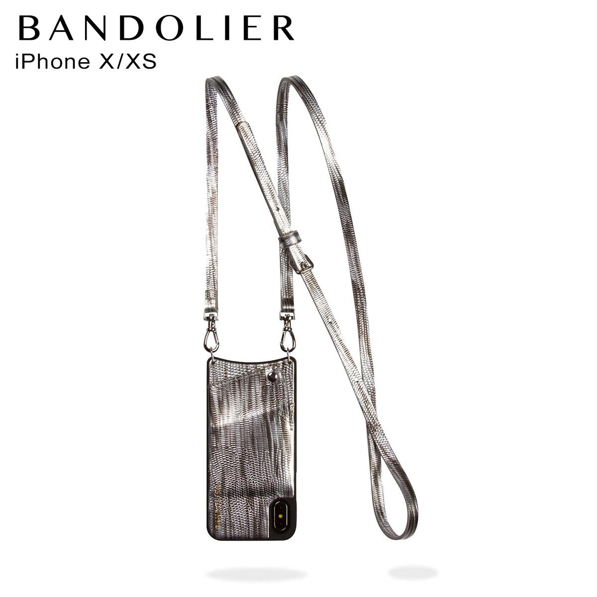 BANDOLIER バンドリヤー iPhone XS X ケース スマホ 携帯 アイフォン EMMA SILVER WAVE メンズ レディース シルバー 10EMM