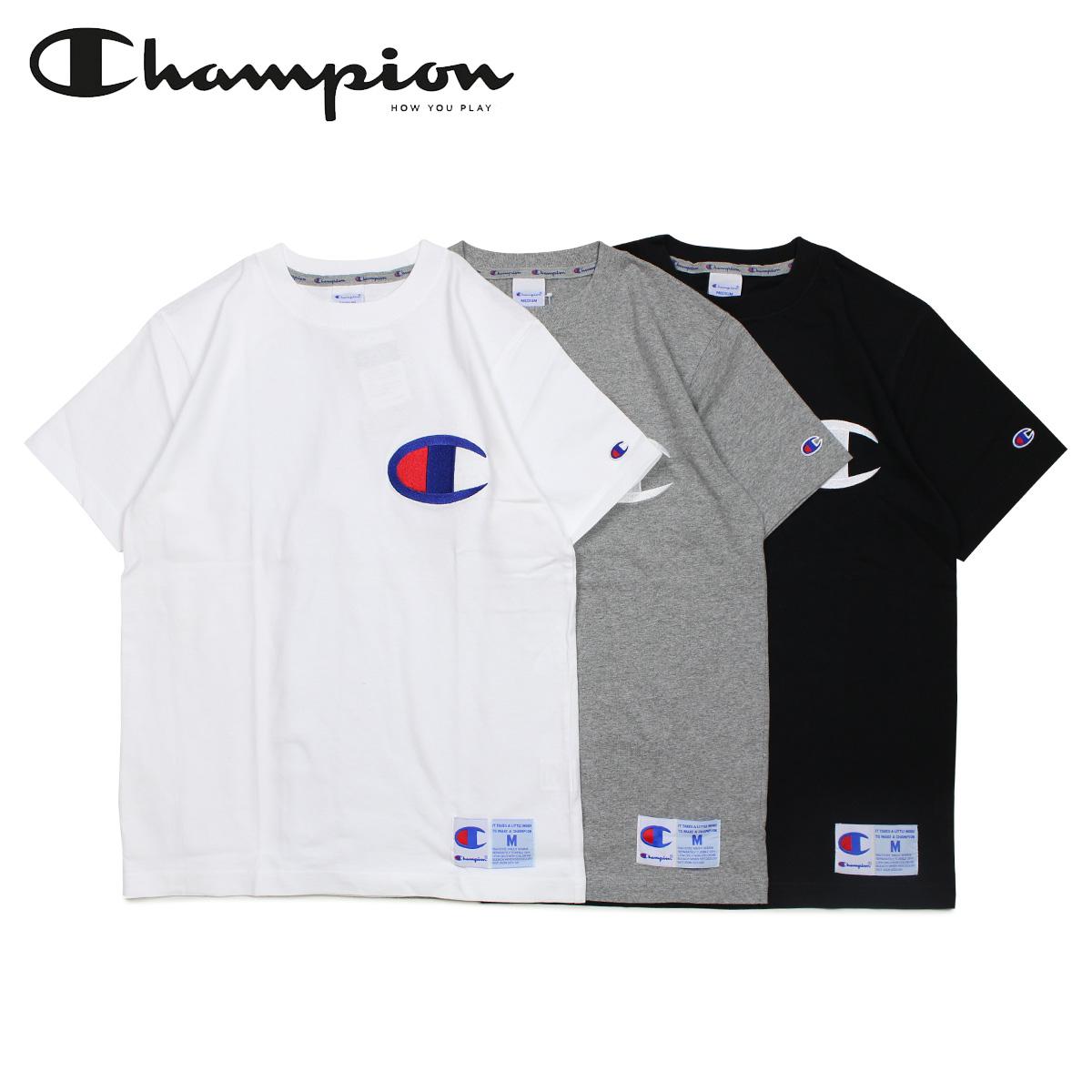 26abc07633f3 Champion Champion T-shirt short sleeves men gap Dis big logo BIG LOGO T-SHIRT  black white gray black and white C3-F362 [4/25 Shinnyu load]