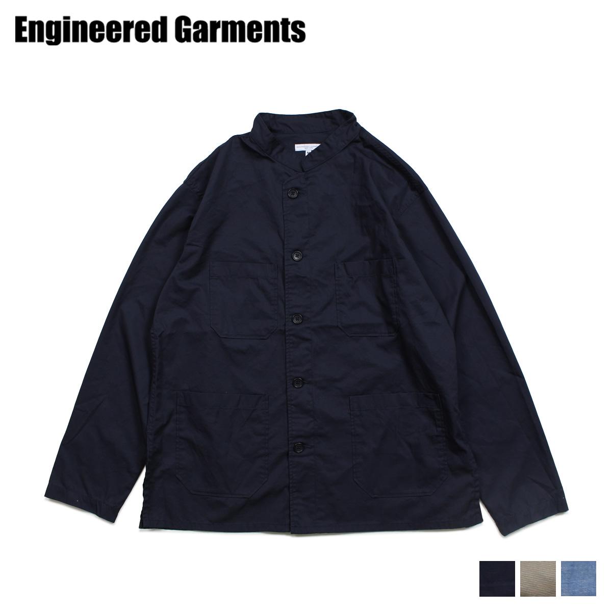 【最大2000円OFFクーポン】 エンジニアドガーメンツ ENGINEERED GARMENTS シャツ 長袖 バンドカラーシャツ メンズ DAYTON SHIRT ダーク ネイビー カーキ ライト ブルー 19SA009