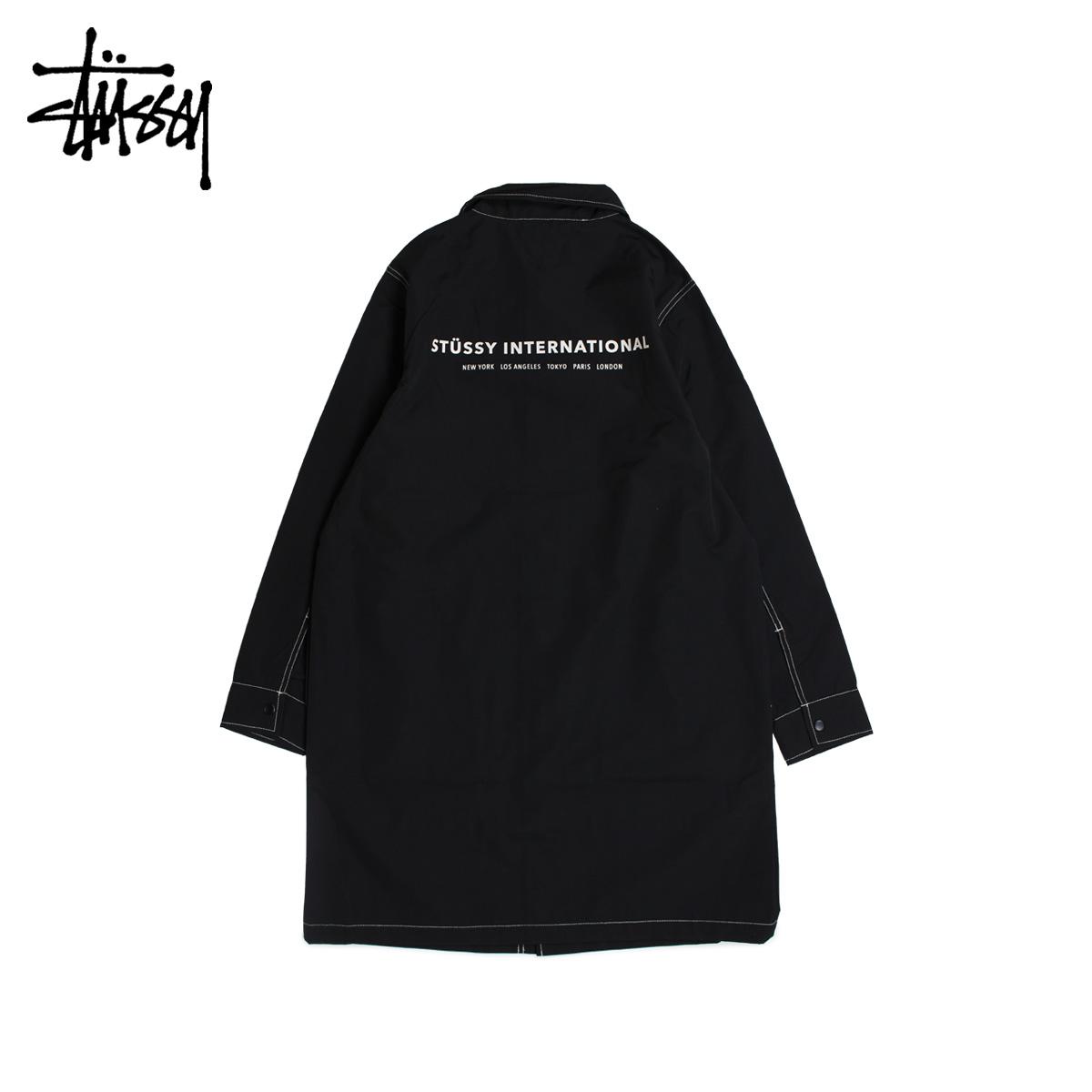 【最大2000円OFFクーポン】 ステューシー STUSSY コート ショップコート メンズ NYLON SHOP COAT ブラック 黒 115408
