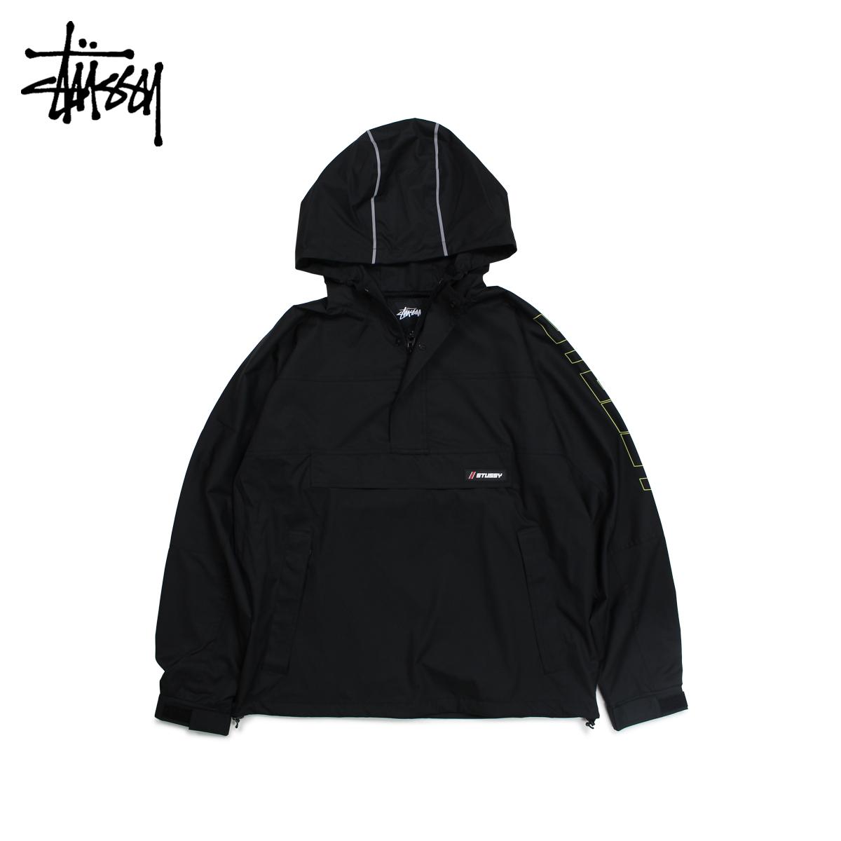 【最大2000円OFFクーポン】 ステューシー STUSSY ジャケット プルオーバージャケット メンズ ALPINE PULLOVER ブラック 黒 115419
