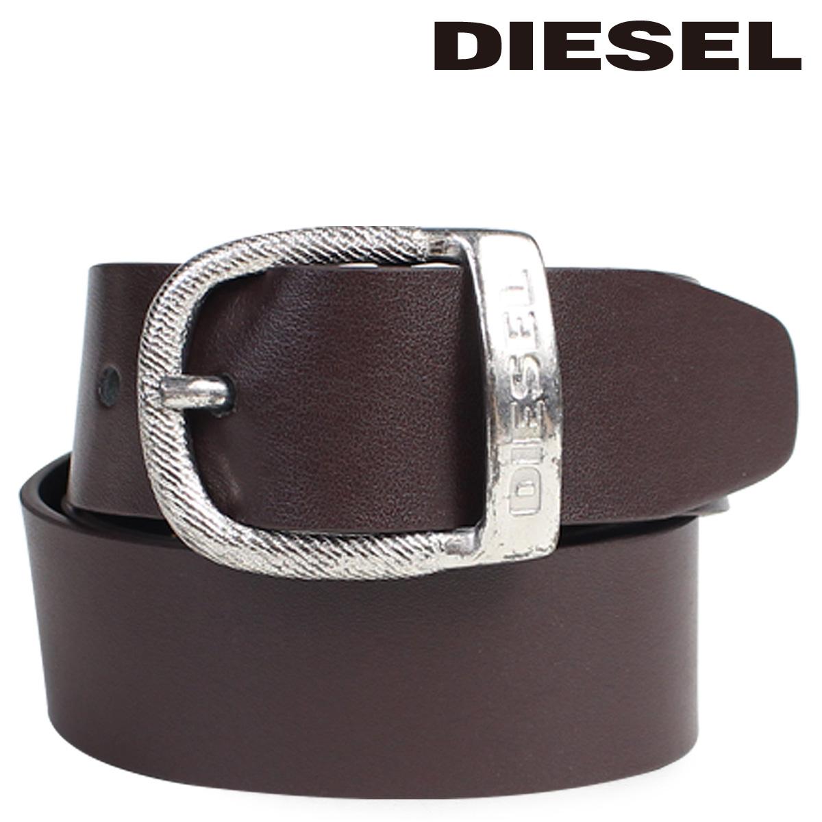 ディーゼル DIESEL ベルト メンズ バックル ロゴ入り カジュアル ヴィンテージ BAWRE X03717 PR250 ブラウン