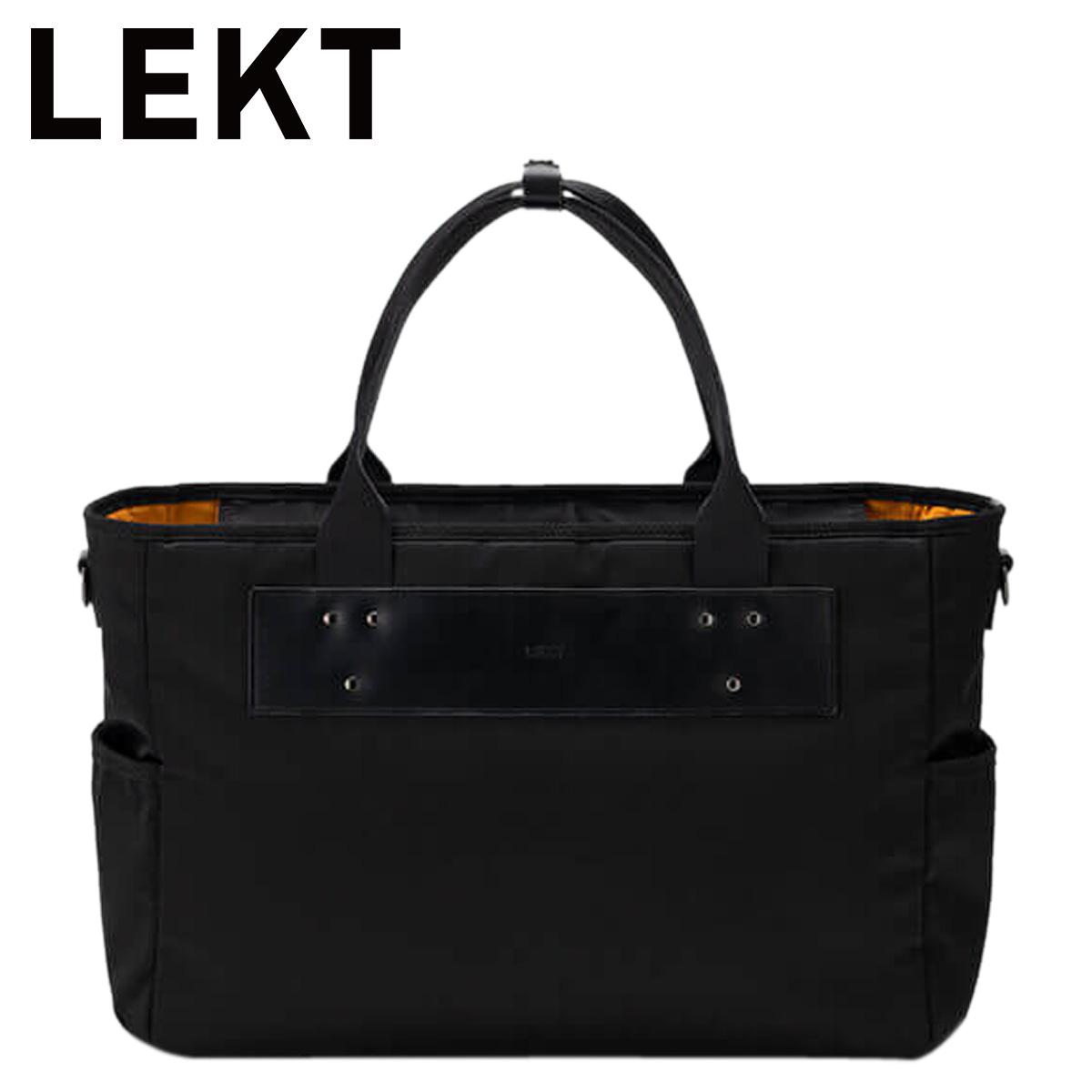 LEKT レクト トート カバン ビジネスバッグ ショルダー メンズ 2way ブラック 黒 LEKT-0002