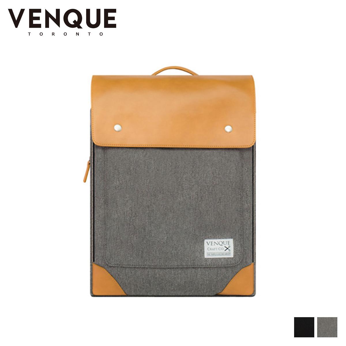 VENQUE ヴェンク リュック バッグ バックパック メンズ レディース 24L FLATSQUARE ブラック グレー 黒