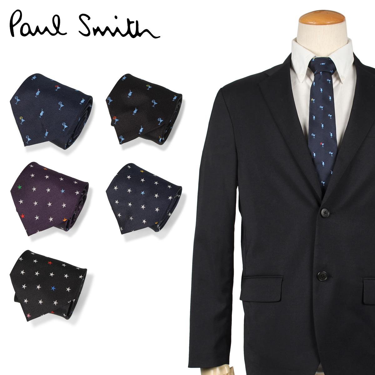 ポールスミス Paul Smith ネクタイ メンズ イタリア製 シルク ビジネス 結婚式 ブラック ネイビー ワイン レッド 黒