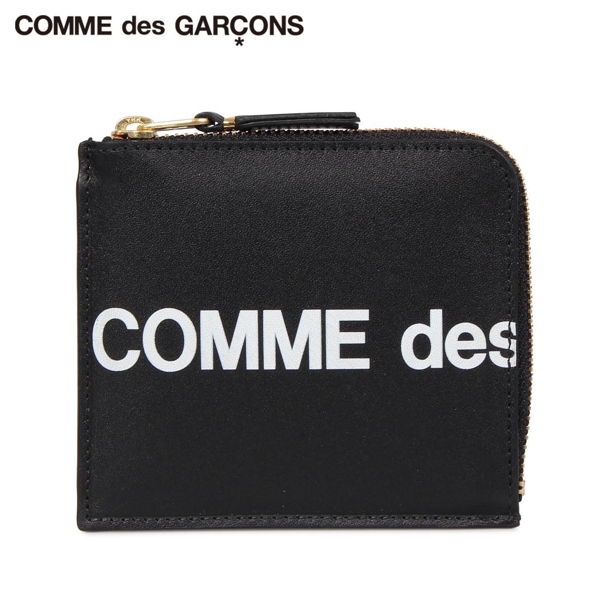 コムデギャルソン COMME des GARCONS 財布 ミニ財布 メンズ レディース L字ファスナー 本革 HUGE LOGO WALLET ブラック 黒 SA3100HL [9/9 追加入荷]