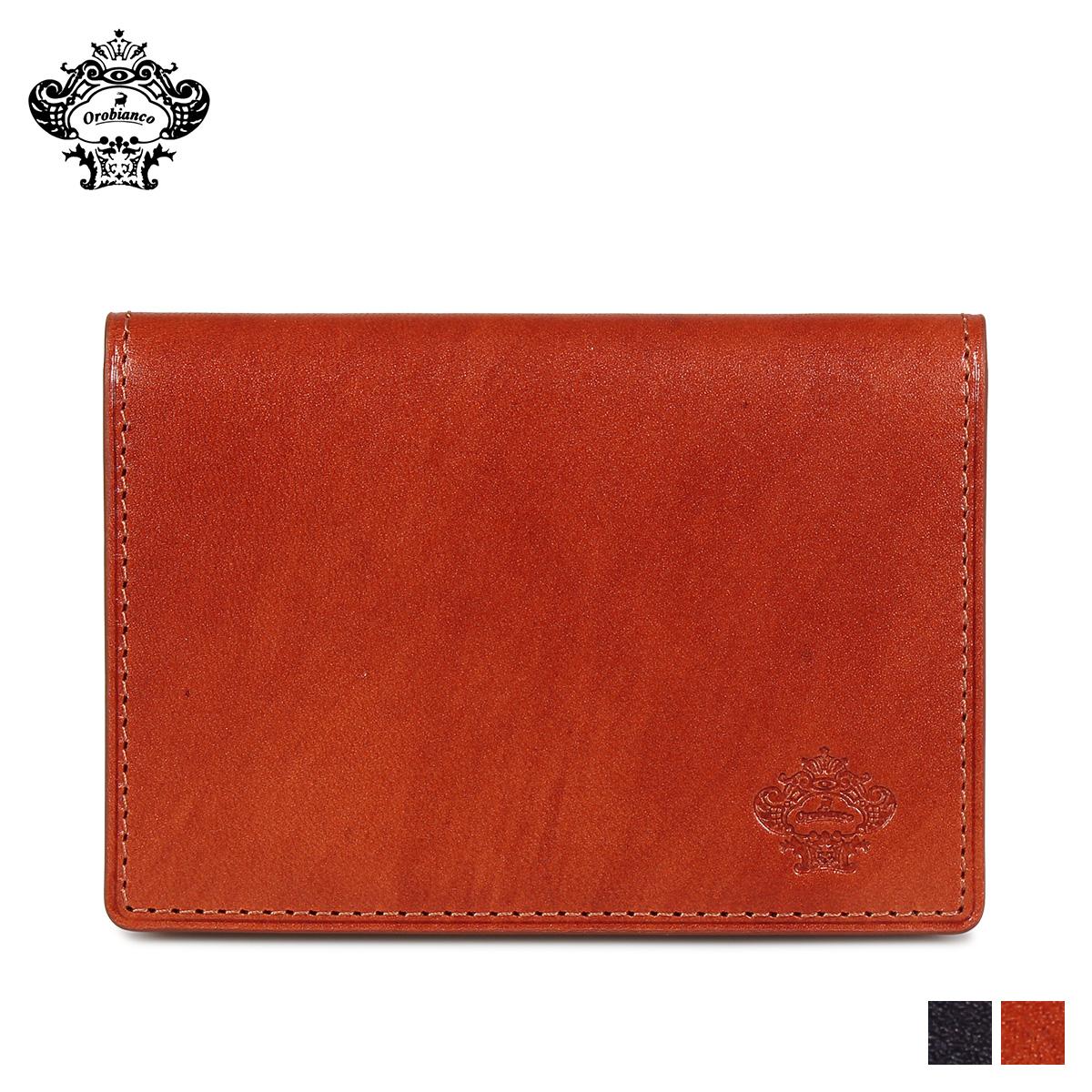 オロビアンコ Orobianco パスケース カードケース ID 定期入れ メンズ 本革 PASS CASE ブラック ブラウン 黒 ORS-011308