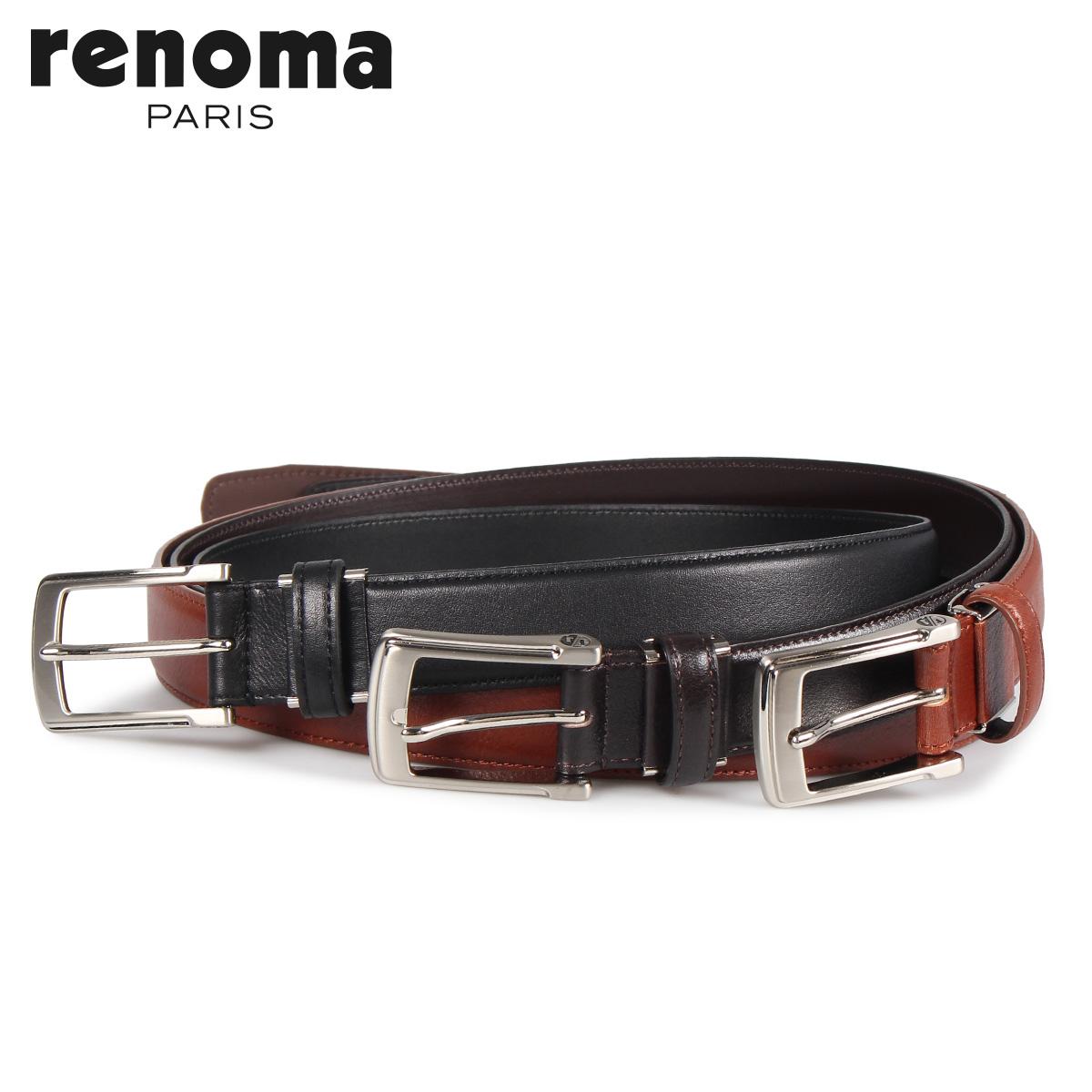 RENOMA レノマ ベルト レザーベルト メンズ 本革 LEATHER BELT ブラック ブラウン ダーク ブラウン 黒 RE-205092 [10/15 新入荷]