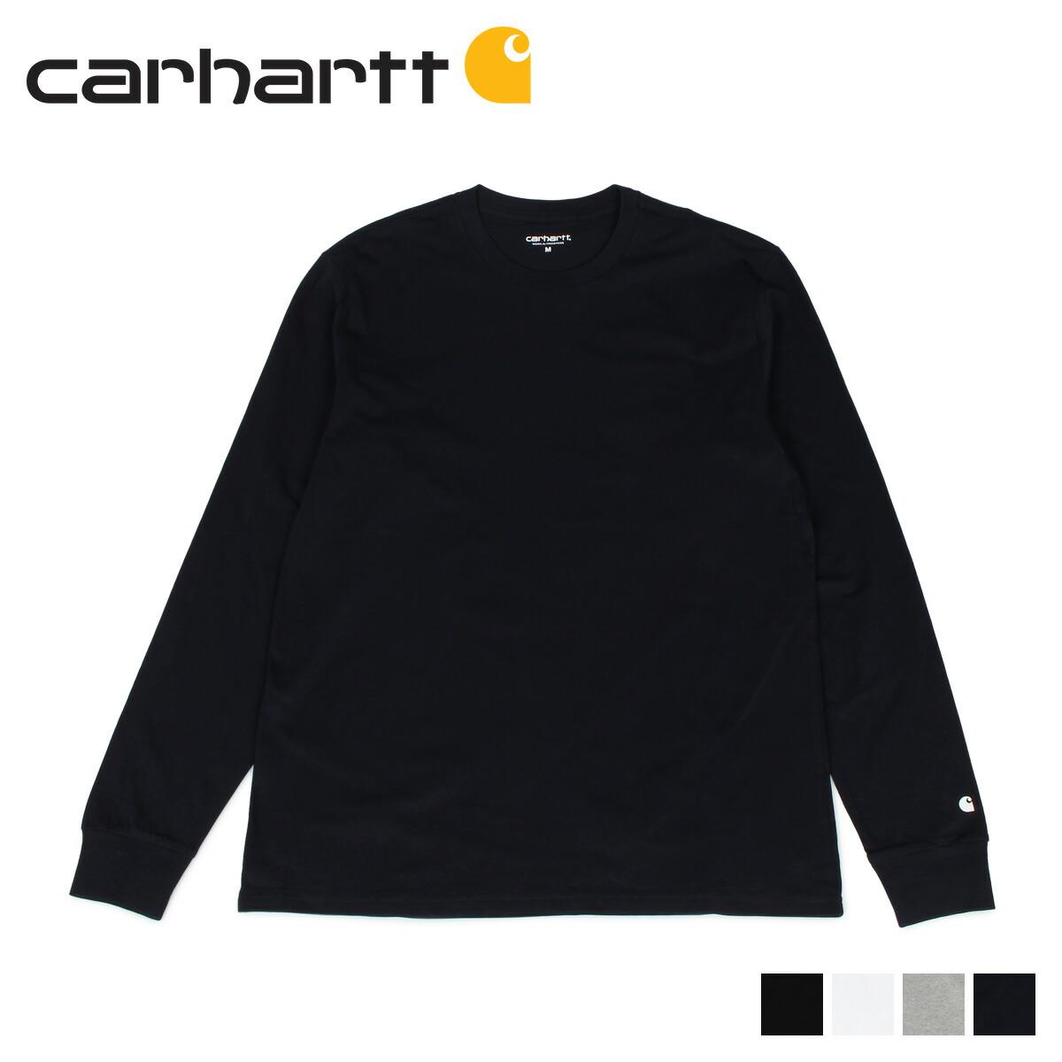 カーハート carhartt Tシャツ メンズ 長袖 ロンT 無地 LS BASE T-SHIRT ブラック ホワイト グレー ダーク ネイビー 黒 白 I026265 [11/7 新入荷]