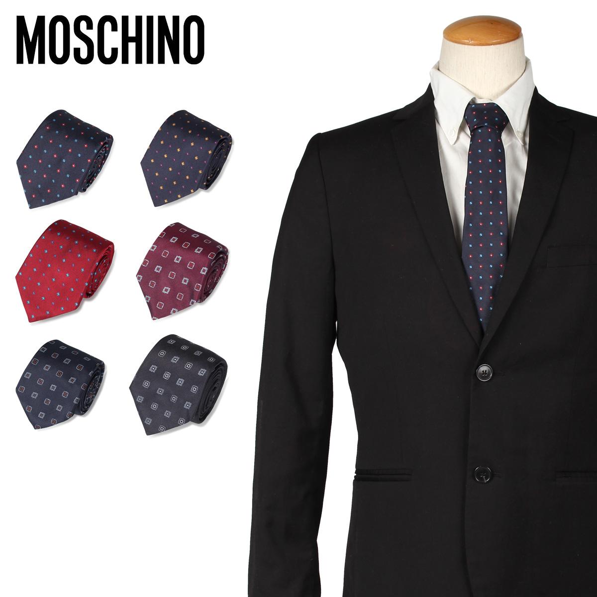 モスキーノ MOSCHINO ネクタイ メンズ シルク ビジネス 結婚式 [11/15 新入荷]