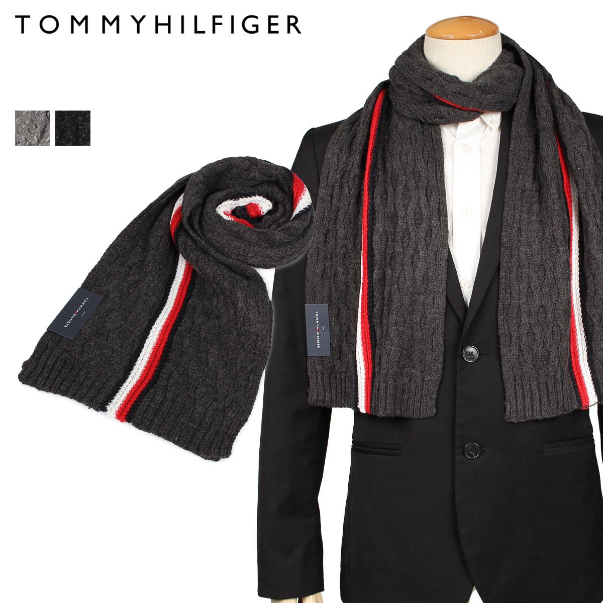 送料無料 あす楽対応 トミーヒルフィガー TOMMY HILFIGER MUFFLER マフラー 最大1000円OFFクーポン 値下げ 1CT0223 チャコールグレー レディース グレー 国産品 メンズ