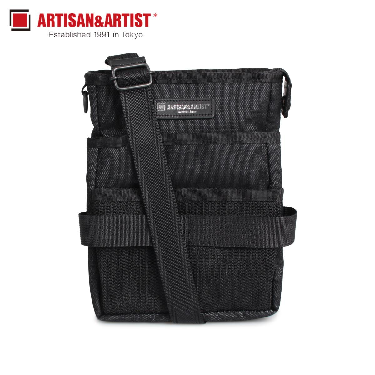 アルティザン&アーティスト ARTISAN&ARTIST バッグ ウエストバッグ ショルダーバッグ レディース メンズ 2WAY MAKEUP WAIST BAG ブラック 黒 7WM-PF312