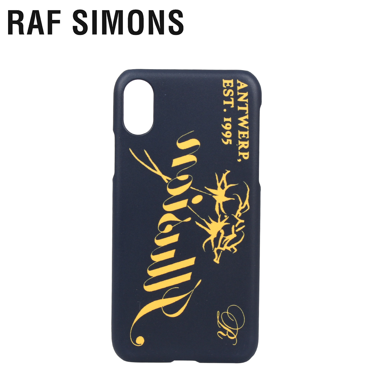 【お買い物マラソンSALE】 ラフシモンズ RAF SIMONS iPhone XS X ケース スマホ 携帯 アイフォン メンズ レディース IPHONE CASE ネイビー 192-942