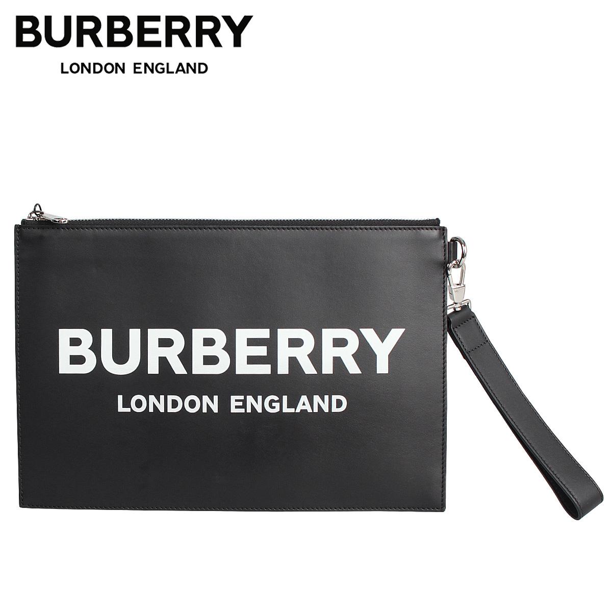 バーバリー BURBERRY クラッチバッグ セカンドバッグ ポーチ メンズ レディース EDIN LOGO POUCH ブラック 黒 8009214