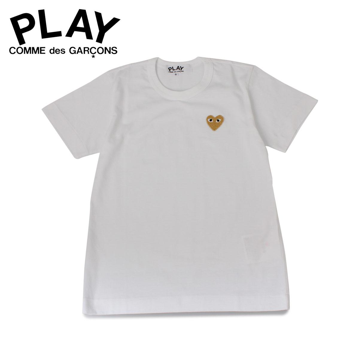 【最大2000円OFFクーポン】 プレイ コムデギャルソン PLAY COMME des GARCONS Tシャツ 半袖 レディース BASIC LOGO TEE ホワイト 白 T2150514 [予約商品 12/6頃入荷予定 新入荷]