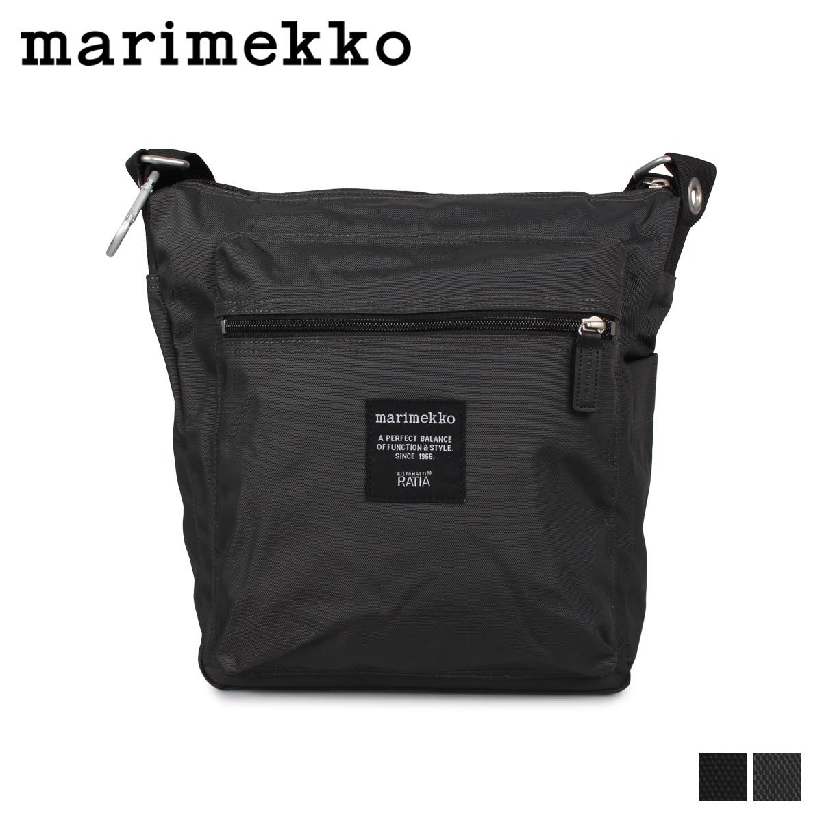 マリメッコ marimekko ショルダーバッグ メッセンジャーバッグ メンズ レディース PAL BAG ブラック チャコールグレー 黒 026991-900 [4/8 再入荷]
