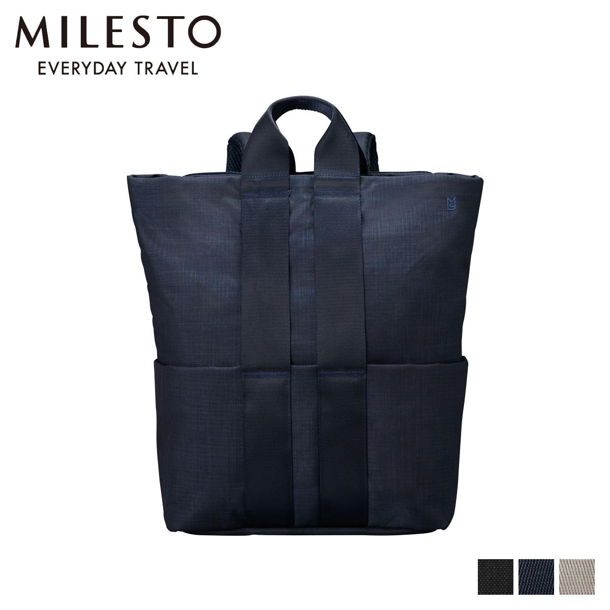 ミレスト MILESTO リュック バッグ バックパック メンズ レディース STLAKT BACKPACK M ブラック ネイビー グレージュ 黒 MLS568