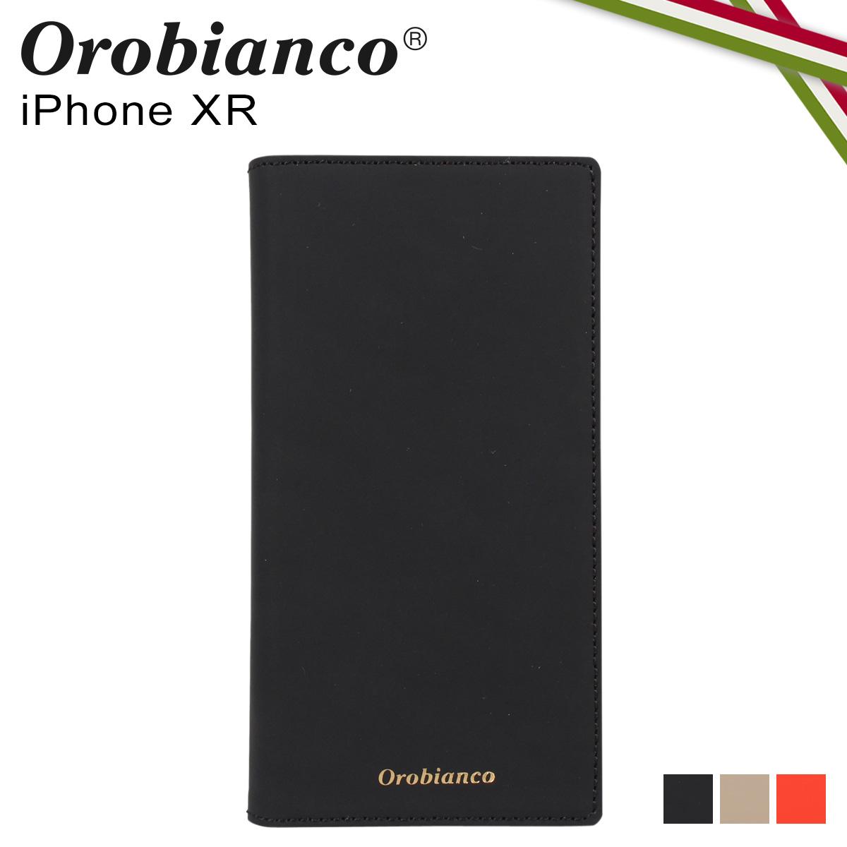 【最大600円クーポン】 オロビアンコ Orobianco iPhoneXR ケース スマホ 携帯 手帳型 アイフォン メンズ レディース GOMMA BOOK TYPE SMARTPHONE CASE ブラック グレージュ オレンジ 黒 ORIP-0007XR