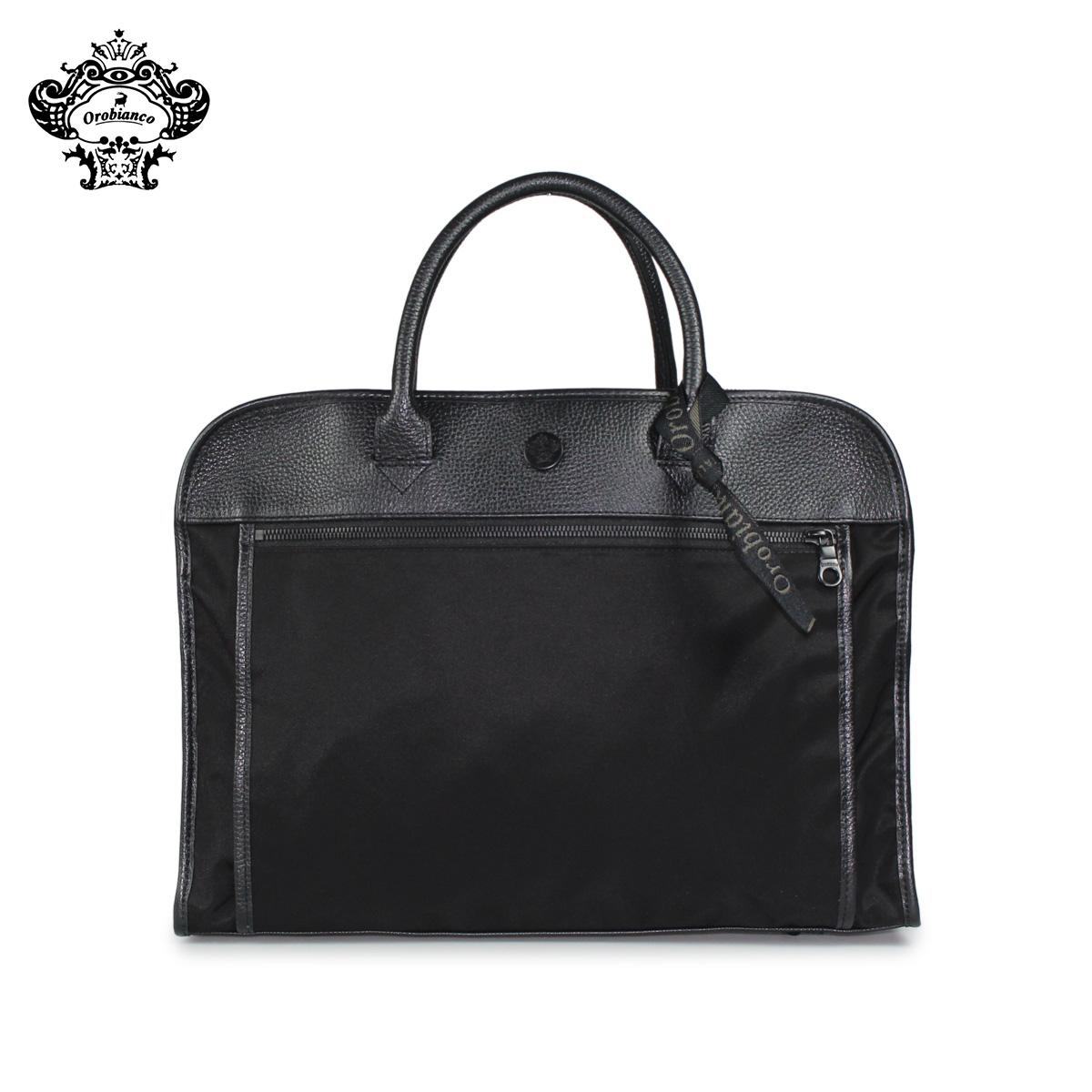 【最大2000円OFFクーポン】 オロビアンコ Orobianco バッグ ショルダーバッグ ビジネスバッグ ブリーフケース メンズ SENZAREGOLA-F 01 ALL BLACK ブラック 黒 92132