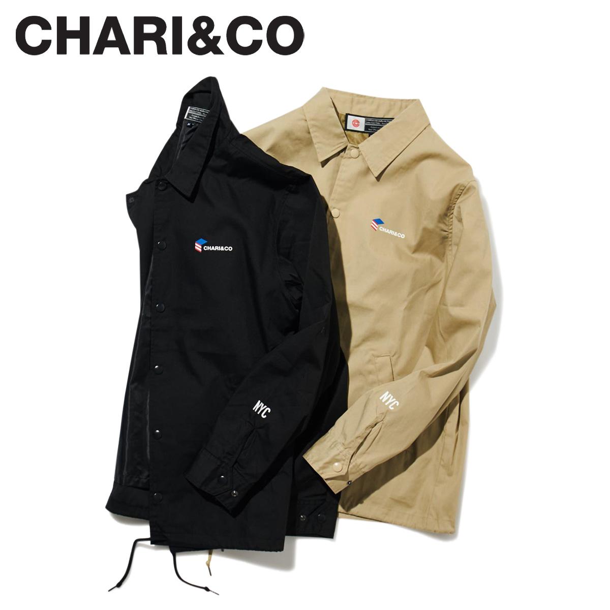 【最大2000円OFFクーポン】 CHARI&CO チャリアンドコー ジャケット コーチジャケット メンズ USA BOX COACH JKT ブラック ベージュ 黒