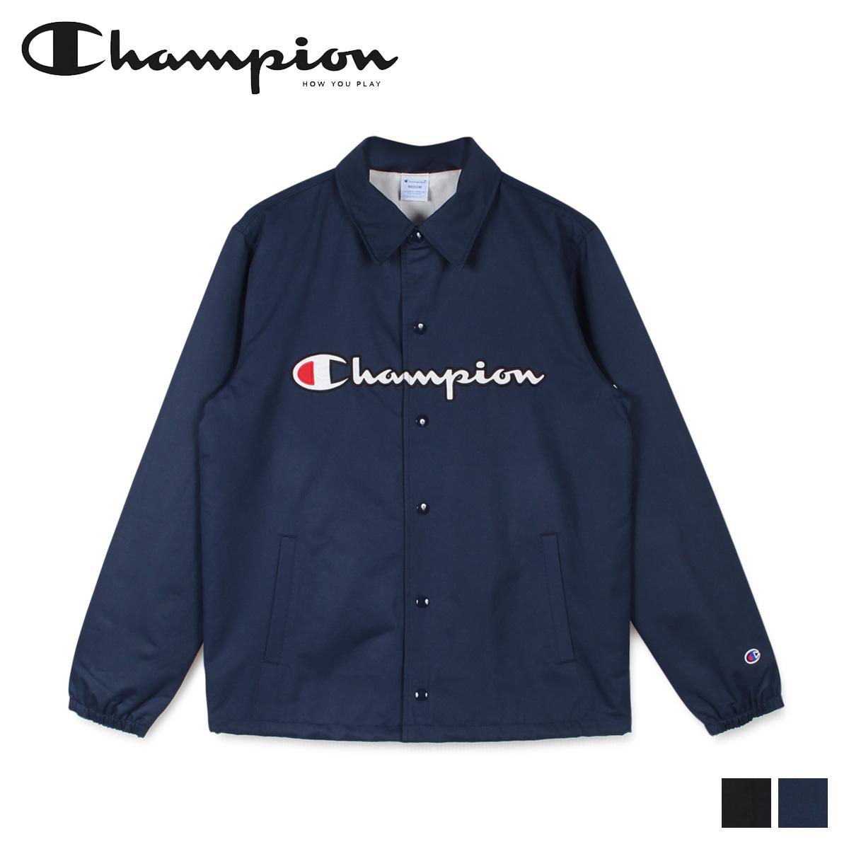 【最大2000円OFFクーポン】 チャンピオン Champion ジャケット コーチジャケット メンズ COACH JACKET ブラック ネイビー 黒 C3-R608