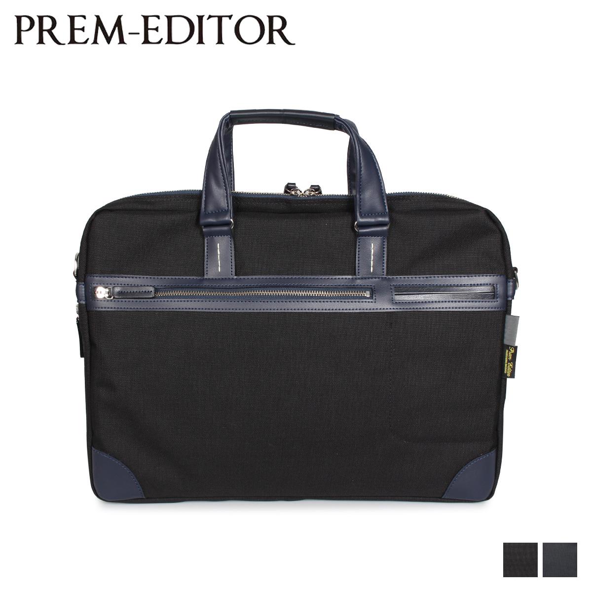 スーパーSALE 送料無料 プレム エディター PREM-EDITOR BRIEF BAG バッグ ブラック ショルダーバッグ 黒 公式通販 オンライン限定商品 02752 メンズ 6L ビジネスバッグ ネイビー