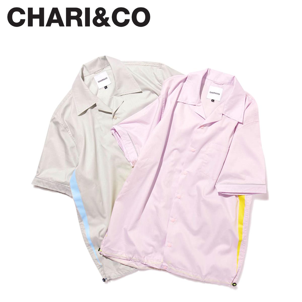 CHARI&CO チャリアンドコー シャツ ボーリングシャツ 半袖 メンズ RETRO FUTURE BOWLING SHIRTS グレー ライト パープル