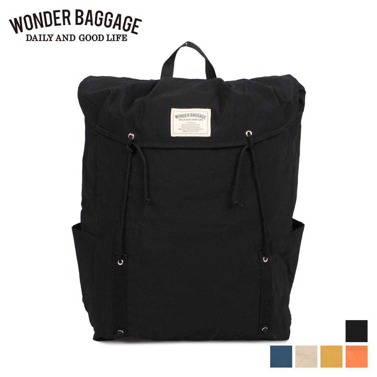 ワンダーバゲージ WONDER BAGGAGE リュック バッグ バックパック メンズ レディース 16L SUNNY DRAW STRING PACK ブラック ネイビー ベージュ マスタード オレンジ 黒 [4/6 新入荷]