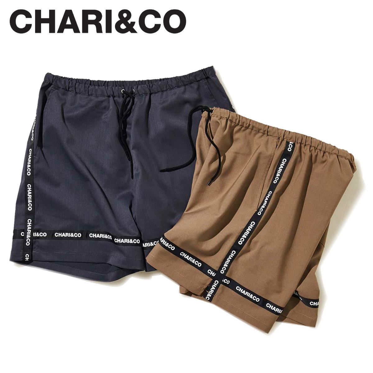 CHARI&CO チャリアンドコー パンツ ショートパンツ ハーフパンツ メンズ LINE SHORTS ネイビー ベージュ [5/1 新入荷]