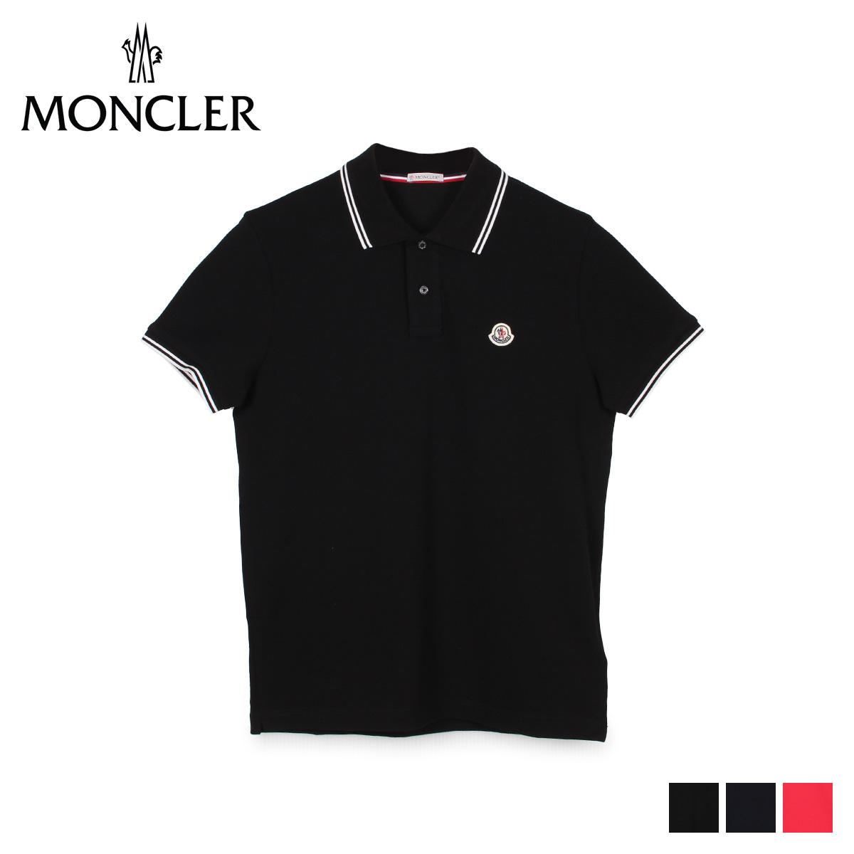 【最大2000円OFFクーポン】 モンクレール MONCLER ポロシャツ 半袖 メンズ POLO SHIRTS ブラック ネイビー レッド 黒 83043 99 84556 [4/23 新入荷]