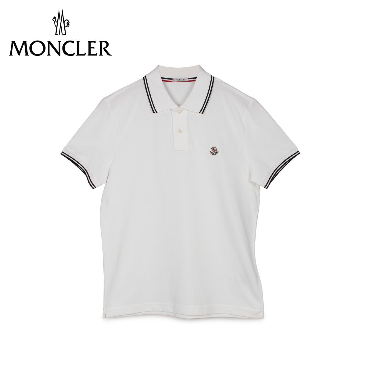 【最大2000円OFFクーポン】 モンクレール MONCLER ポロシャツ 半袖 メンズ POLO SHIRTS ホワイト白 83043 99 84556 [4/23 新入荷]