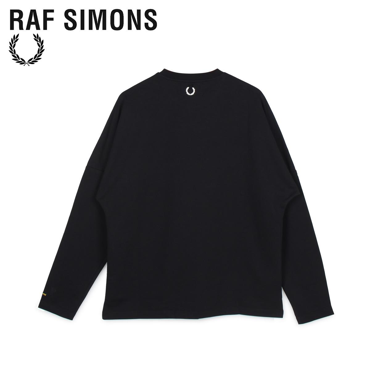 【最大2000円OFFクーポン】 フレッドペリー ラフシモンズ FRED PERRY RAF SIMONS Tシャツ 長袖 ロンT メンズ コラボ LONG SLEEVE T-SHIRT ブラック 黒 SM8136 [6/2 新入荷]