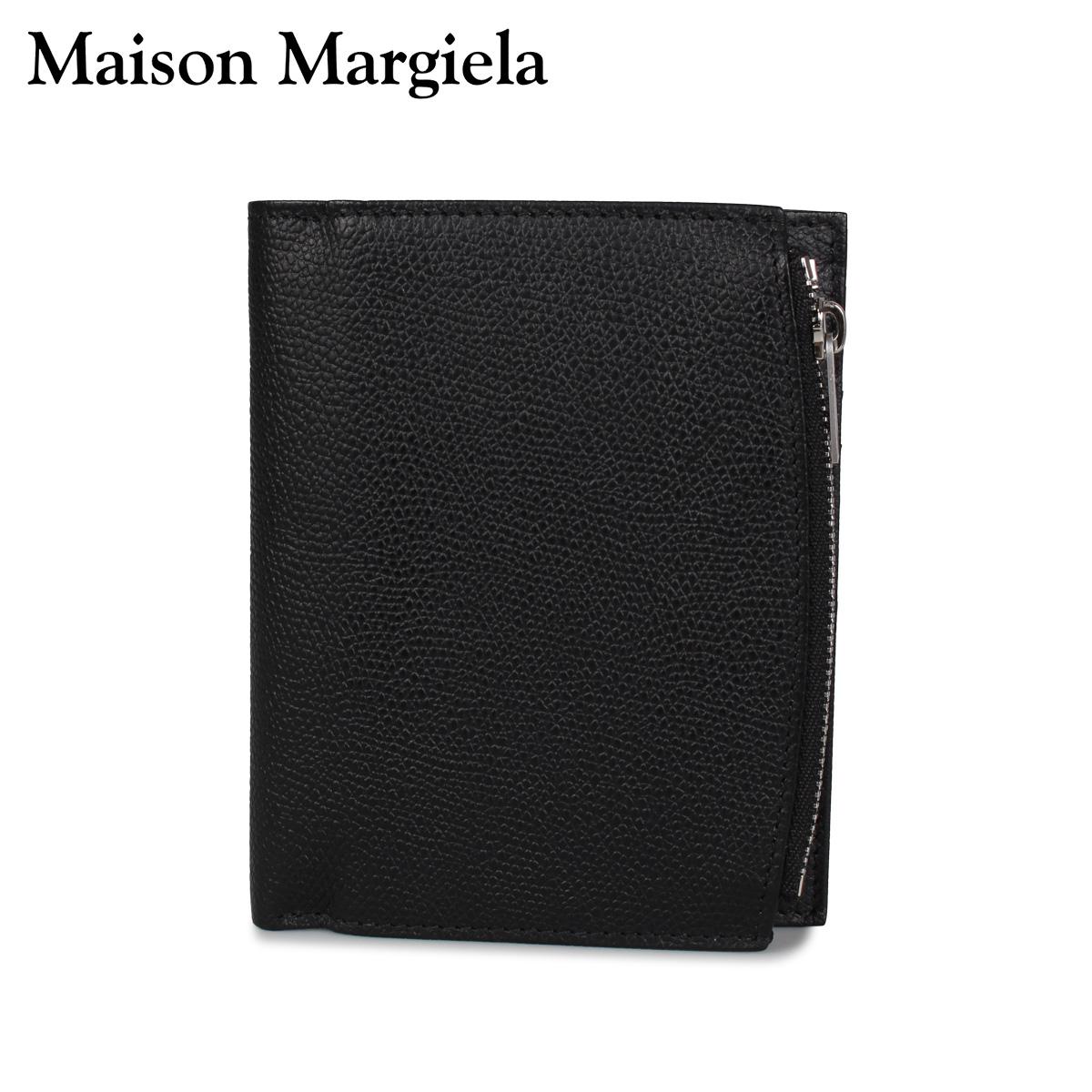 メゾンマルジェラ MAISON MARGIELA 財布 二つ折り メンズ レディース WALLET ブラック 黒 S35UI0437