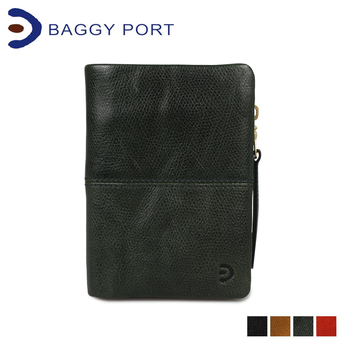BAGGY PORT バギーポート 財布 二つ折り ブリタニア メンズ レディース L字ファスナー BRITANNIA WALLET ブラック キャメル グリーン オレンジ 黒 ZKM202