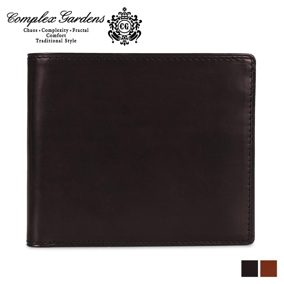 COMPLEX GARDENS コンプレックスガーデンズ 財布 二つ折り メンズ 青木鞄 本革 GOUMA WALLET ブラック キャメル 黒 3972