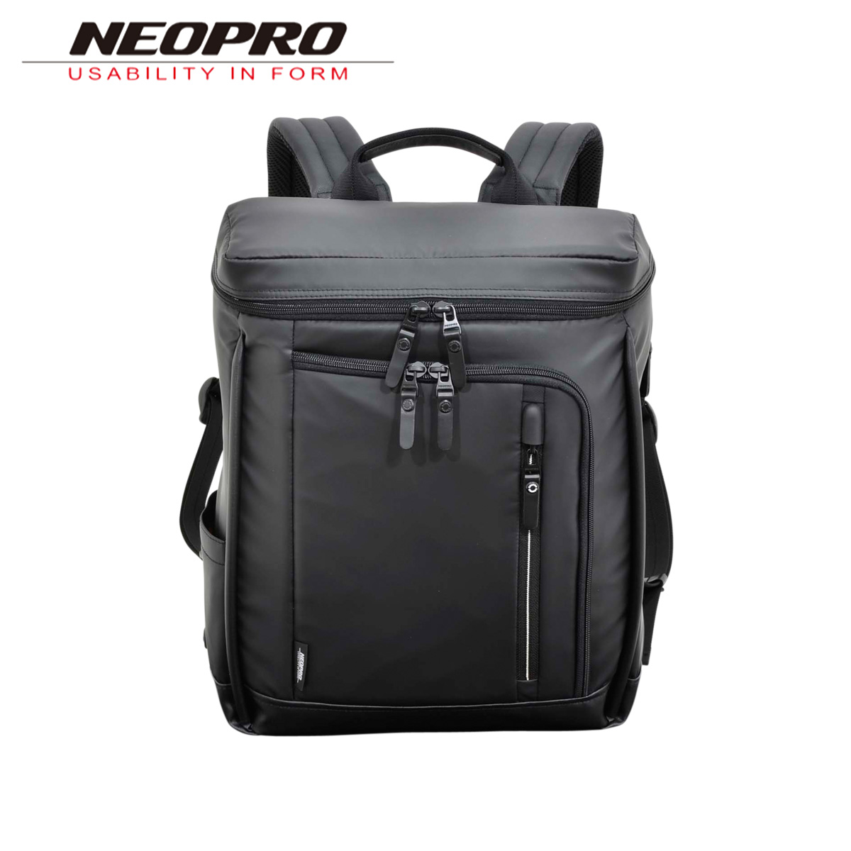 ネオプロ NEOPRO リュック バッグ バックパック ビジネスバッグ メンズ COMMUTE LIGHT BOX BACKPACK ブラック 黒 2-763