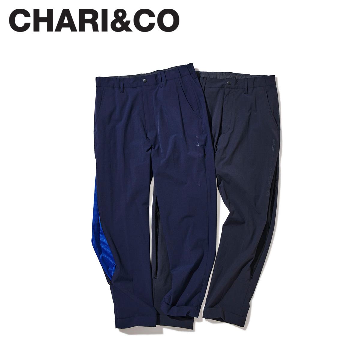 CHARI&CO チャリアンドコー パンツ トラックパンツ メンズ OFF THE OFFICE STRETCH PANTS ブラック ネイビー 黒 [10月 新入荷]