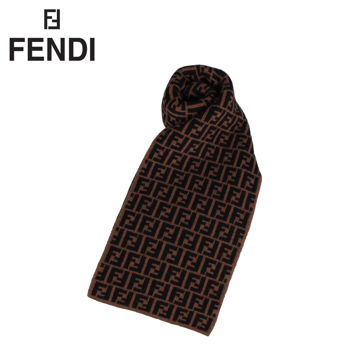 フェンディ FENDI マフラー スカーフ メンズ レディース イタリア製 ウール MUFFLER ブラウン FXS346A40J [9月 新入荷]