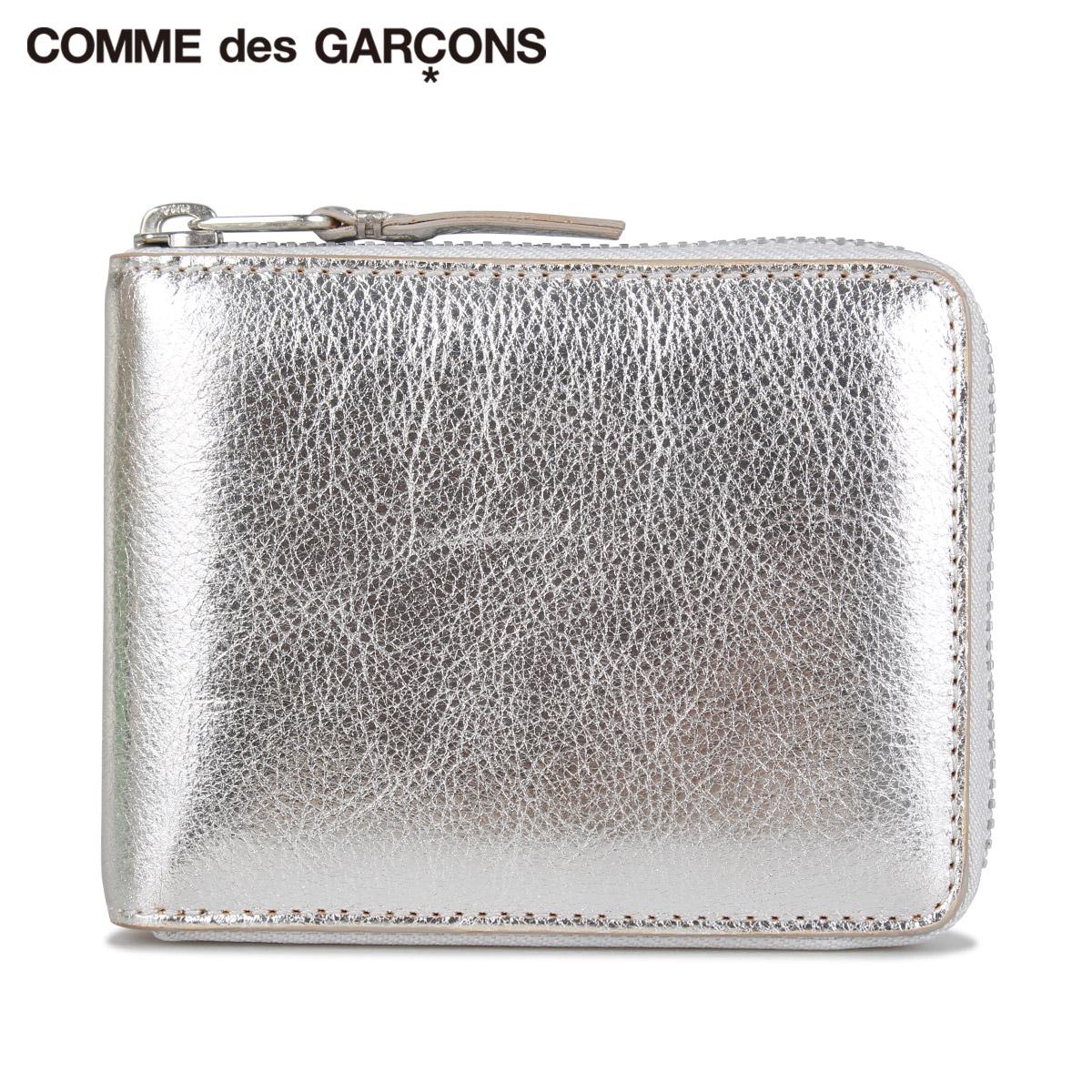 コムデギャルソン COMME des GARCONS 財布 二つ折り メンズ レディース ラウンドファスナー GOLD AND SILVER WALLET シルバー SA7100G [9/3 新入荷]