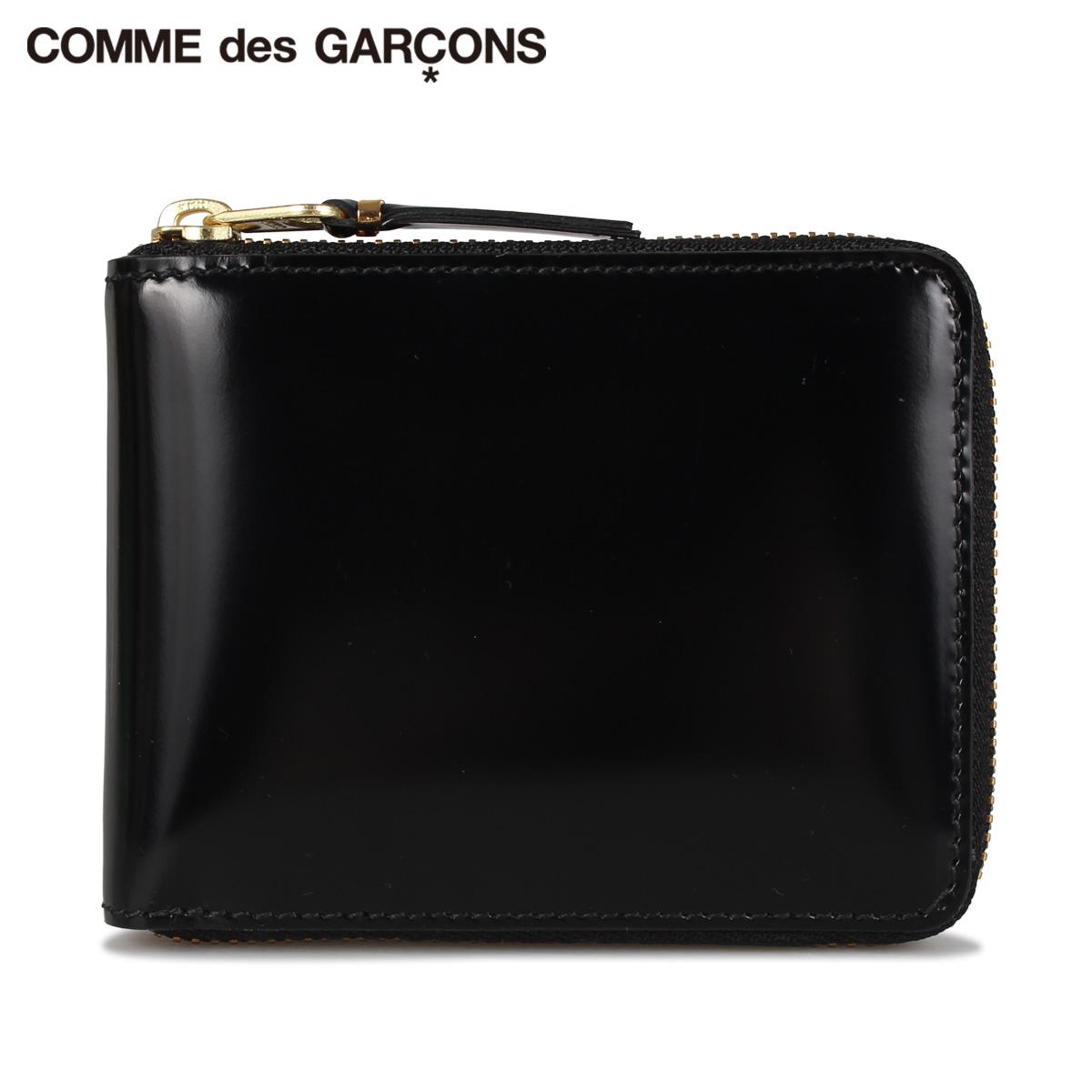 コムデギャルソン COMME des GARCONS 財布 二つ折り メンズ レディース ラウンドファスナー MIRROR INSIDE WALLET ブラック 黒 SA7100MI [9/3 新入荷]