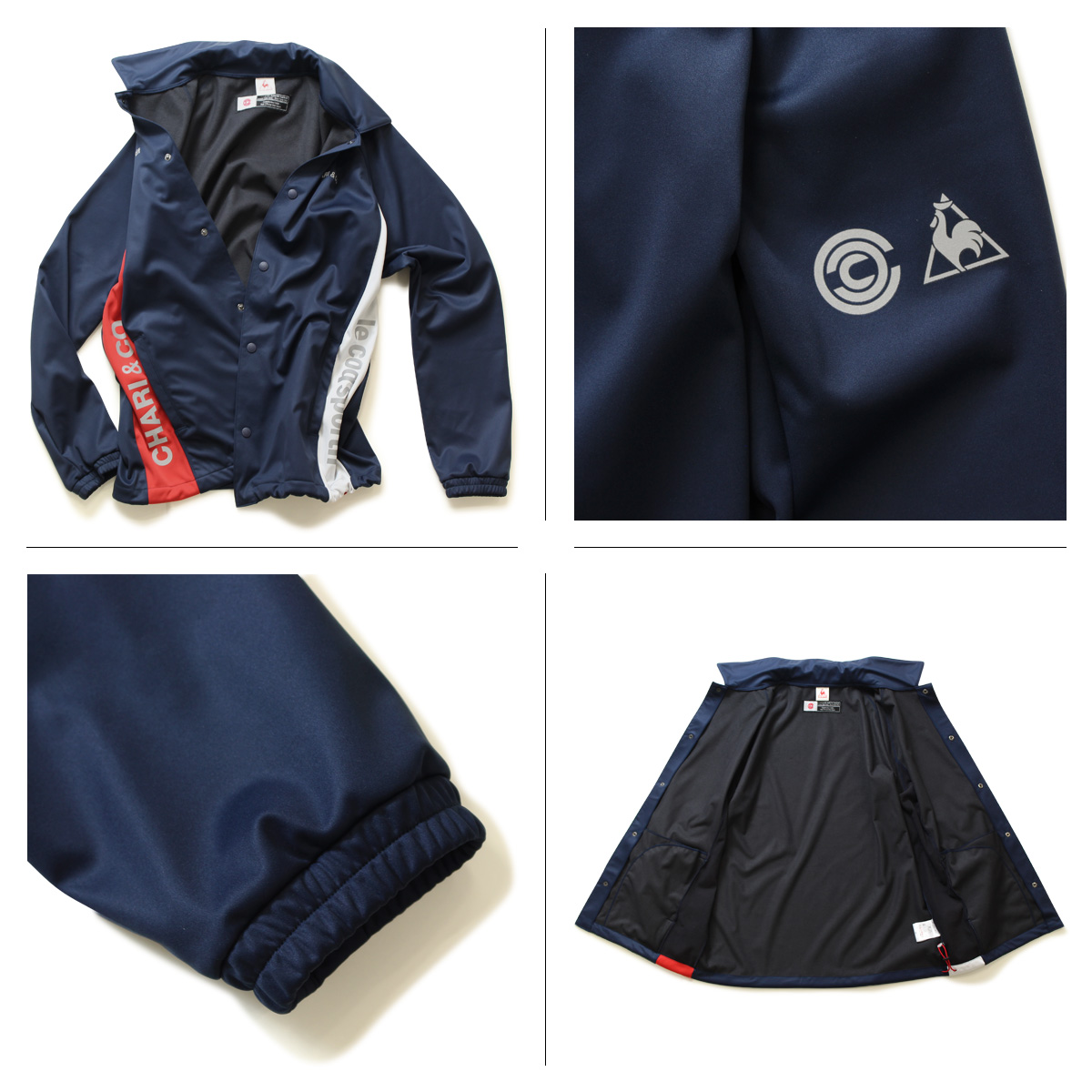 195ff6026 CHARI CO NYC coaches jacket mens x LE COQ SPORTIF jacket chariandcoa ×  Alcock sportif cycle Jersey  11   1 new in stock