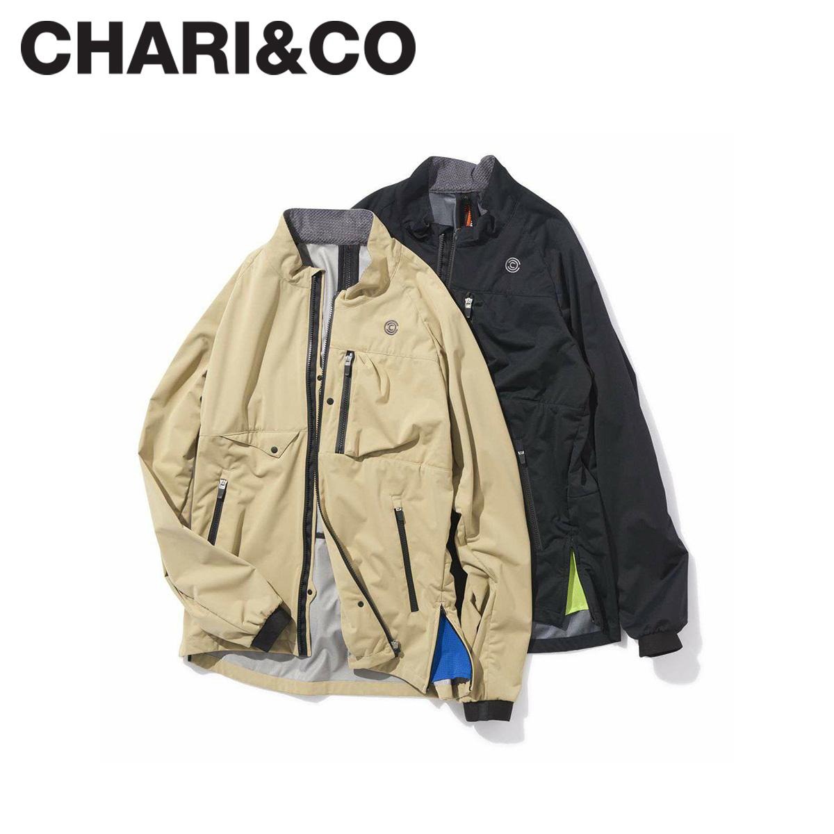 【最大2000円OFFクーポン】 CHARI&CO チャリアンドコー ジャケット メンズ PEGASUS JKT 防水 撥水 ブラック ベージュ 黒