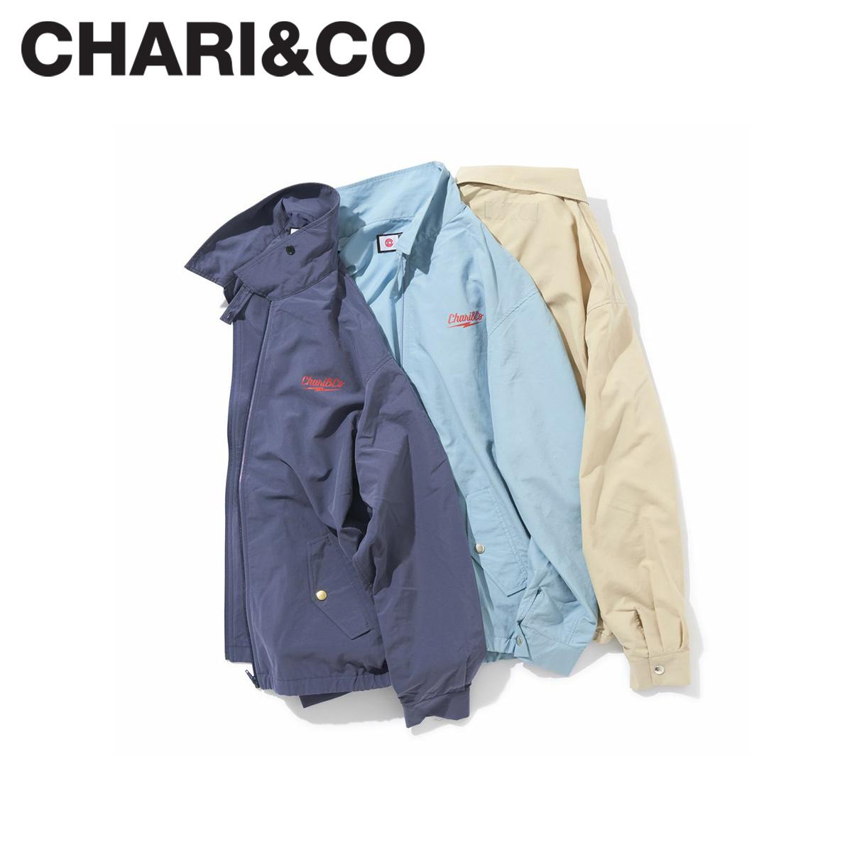 CHARI&CO チャリアンドコー ジャケット サンダーロゴジャケット メンズ レディース THUNDER LOGO JKT ネイビー ベージュ ブルー