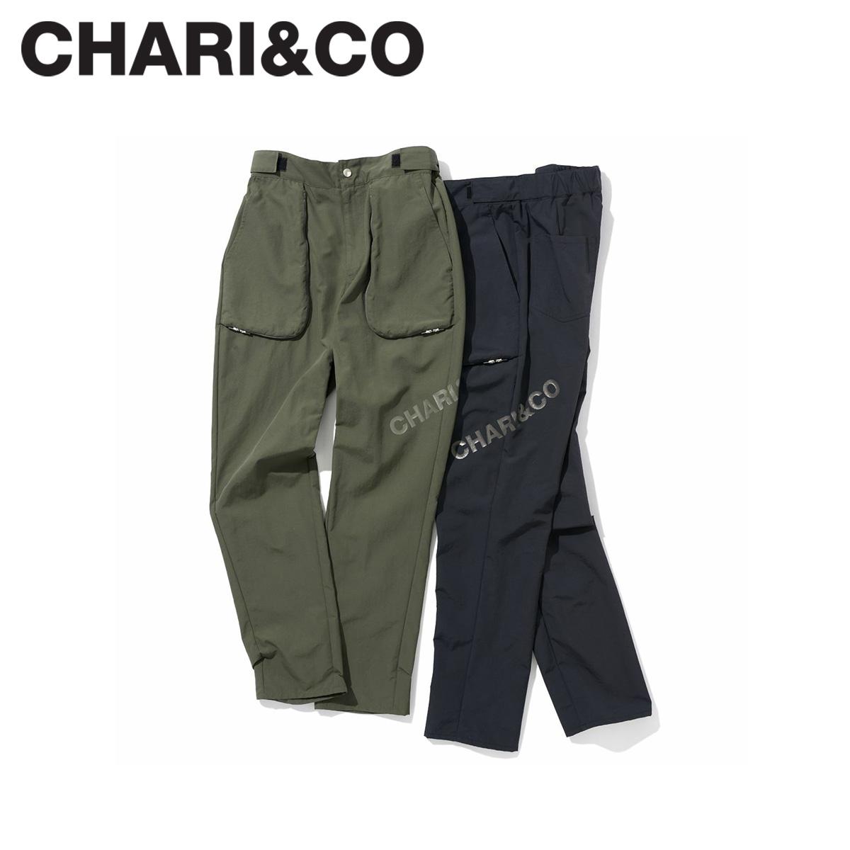 CHARI&CO チャリアンドコー パンツ テーパードパンツ メンズ NOMAD PANTS ブラック カーキ 黒