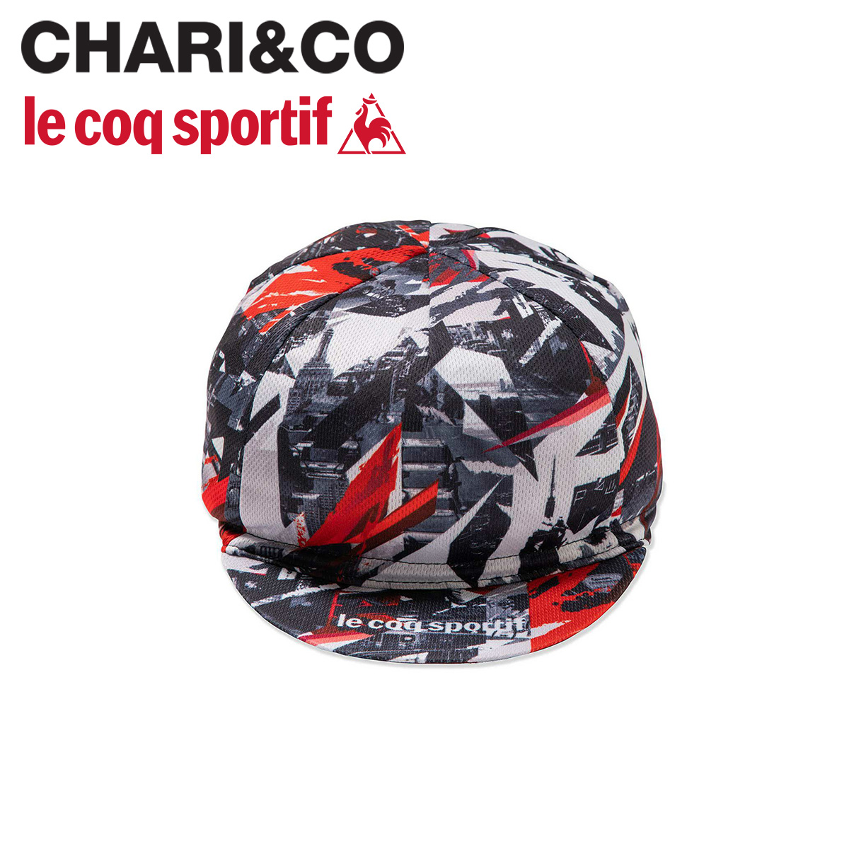 CHARI&CO チャリアンドコー ルコック スポルティフ le coq sportif キャップ 帽子 メンズ レディース CYCLE CAP コラボ レッド